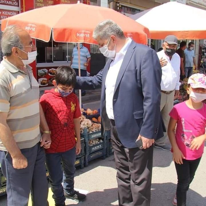 Başkan ALTUN' dan pazar ziyareti